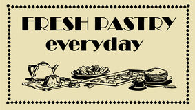 Fresh Pastry Sign. Ready Made Sin board for a bakery Royalty Free Stock Photo