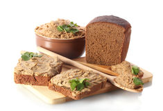 Fresh pate with bread Stock Photo