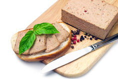 Fresh pate on bread Royalty Free Stock Photography