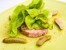 Fresh pate with lettuce Royalty Free Stock Image