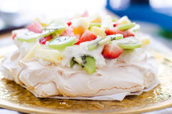 Fresh pavlova Stock Image