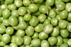 Fresh pea in glass bowl. Background royalty free stock photos