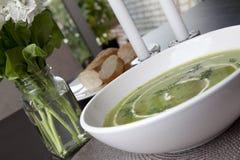 Fresh Pea Soup Stock Photos