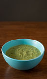 Fresh Pea Soup Stock Photography