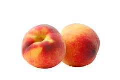 Fresh peach. On a white background Stock Photo