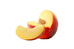 Fresh peach. On a white background Royalty Free Stock Images