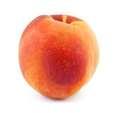 Fresh peach. On white background royalty free stock photo