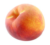 Fresh peach. Fruit isolated with clipping path included royalty free stock image
