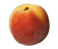 Fresh peach. On white background Royalty Free Stock Images