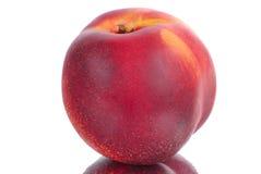 Fresh peach. Fruit isolated on white stock photos