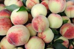 Fresh peach background. Fresh peach in the store stock image