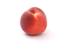 Fresh peach close-up. Fresh peach close-up isolated on a white background. Studio shot royalty free stock photos