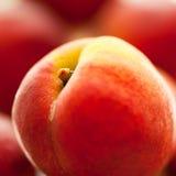 Fresh peach closeup. Fresh peach close up, selective focus Royalty Free Stock Image