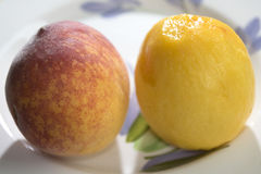 Fresh peach of the field Stock Photography