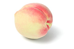 Fresh Peach Fruit. On White Background royalty free stock images