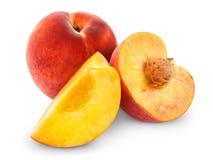 Fresh peach fruits Stock Photography
