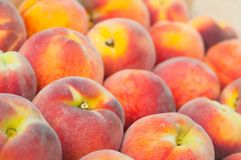 Fresh peach heap Stock Photography