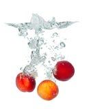 Fresh peach Stock Photography