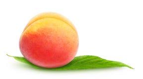 Fresh peach. Isolated on white royalty free stock photos