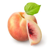 Fresh peach isolated Stock Photo