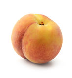 Fresh peach isolated. On white background Stock Images