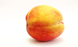 Fresh Peach Isolated On The White Background Stock Photo