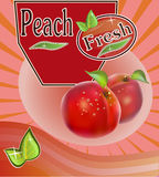 Fresh peach juice Banner Royalty Free Stock Images