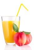 Fresh peach juice Stock Image
