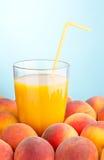 Fresh peach juice Stock Photo