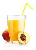 Fresh peach juice Royalty Free Stock Image