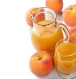 Fresh peach juice Stock Photography