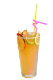 Fresh peach smoothie Stock Images