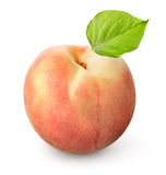 Fresh peach. On a white background royalty free stock photo