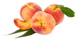 Fresh peach Stock Photo