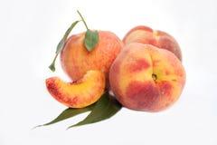 Fresh peach Stock Photos