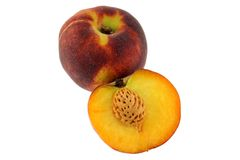 Fresh Peach on white background Stock Photos