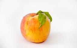 Fresh peach  on white Royalty Free Stock Photo