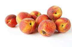 Fresh peaches. A still life of fresh golden peaches Stock Image