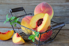 Fresh peaches Royalty Free Stock Images