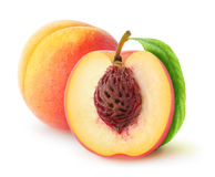 Fresh peaches Stock Photos