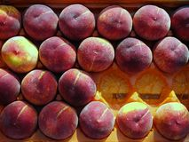 Fresh Peaches, Greek Street Market Royalty Free Stock Photo
