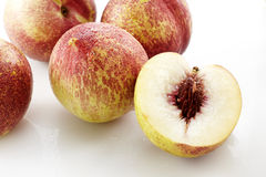 Fresh peaches, A group of colorful nectarine fruit Royalty Free Stock Images