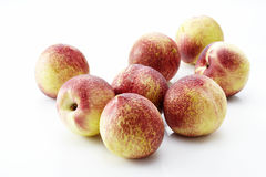 Fresh peaches, A group of colorful nectarine fruit Royalty Free Stock Photo