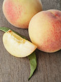 Fresh peaches with lobule Stock Image