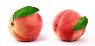 Free Fresh Peaches   White Background Royalty Free Stock Photo - 81706165
