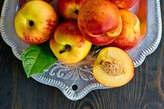 Fresh peaches Stock Images