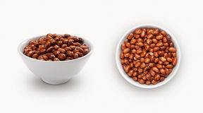 Fresh peanuts in a bowl Stock Images