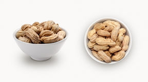 Fresh peanuts in a bowl Stock Photo