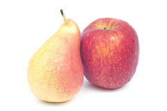 Fresh pear and apple . Royalty Free Stock Image