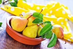 Fresh pear Stock Photography